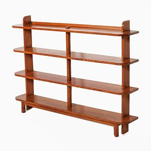Vintage French Elm Etagere Bookcase, 1940s