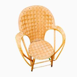 Vintage Handmade Organic Chair, 1970s, Set of 4