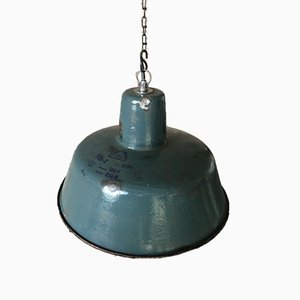 Industrielle Vintage Fabrik Deckenlampe von Wikasy A23, 1960er