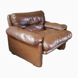 Leather Lounge Chairs, 1967, Set of 2
