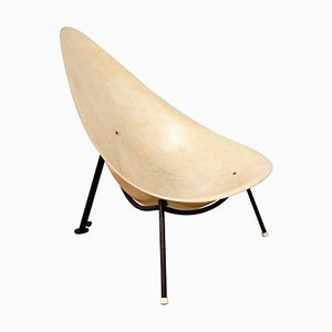 French Fiberglass Easy Chair Attributed to René Jean Caillette for Merat , 1950s