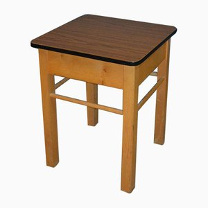 Mid-Century Wooden and Formica Stool