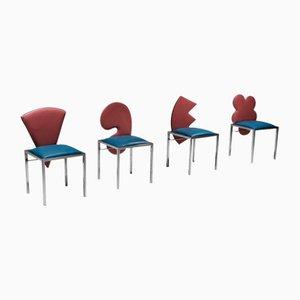 Vintage Esszimmerstühle von Salvati & Tresoldi für Saporiti Italia, 1980er, 4er Set