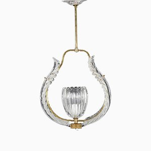 Crystal Chandelier by Fritz Kurz for Orrefors