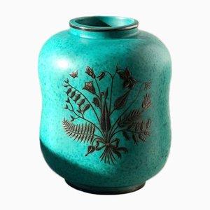 Argenta Stoneware Vase by Wilhelm Kåge for Gustavsberg, 1950s