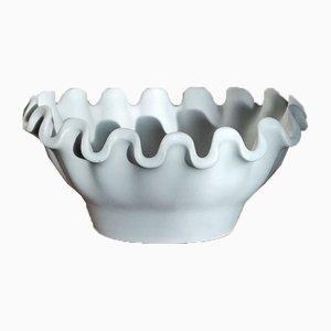 Stoneware White Small Bowl from the Series Våga by Wilhelm Kåge for Gustavsberg, 1950s