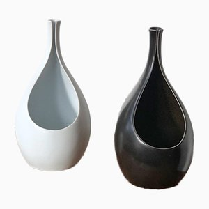 Pungo Ceramic Vases by Stig Lindberg for Gustavsberg, 1950s, Set of 2