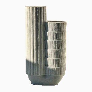 White Chamotte Vase by Gunnar Nylund, 1940s