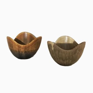 Ash Ceramic Bowls by Gunnar Nylund for Rörstrand, 1950s, Set of 2