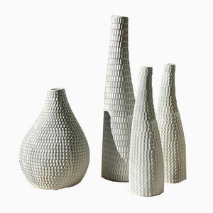 Reptile Ceramic Vases by Stig Lindberg for Gustavsberg, 1950s, Set of 4