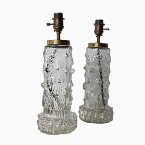 Table Lamps in Clear Glass from Stilarmatur, 1960s, Set of 2
