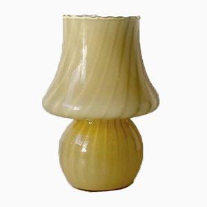 Gelbe Murano Mushroom Tischlampe, 1970er