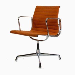 Chaise de Bureau EA108 en Aluminium Orange par Charles Eames pour Herman Miller
