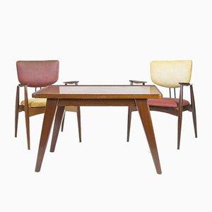 Armlehnstühle und Tisch von Michel Arnoult, 4er Set