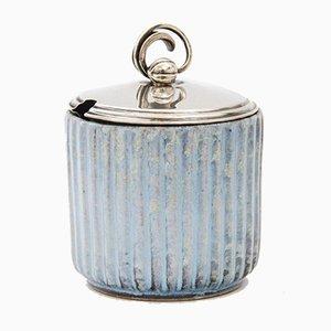 Pot Couvercle avec Couvercle en Argent par Andersen Keramik Bornholm, 1930s