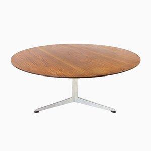 Table Basse en Teck avec Base à Trois Pieds en Aluminium par Arne Jacobsen pour Fritz Hansen
