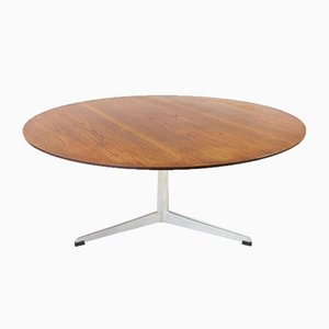 Teak Coffee Table on 3-Legged Aluminium Base by Arne Jacobsen for Fritz Hansen