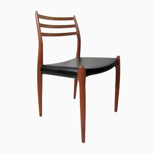 Teak Model 78 Dining Chairs by N.O. Moller for JL Moller, Set of 6