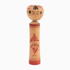 Japanese Hand-Painted Kokeshi Doll, 1960s