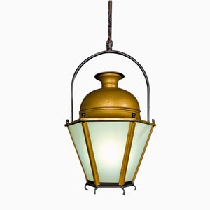 Mid-Century Copper Lantern, 1950s
