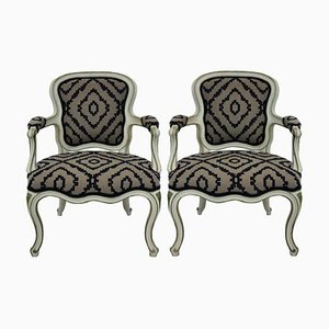 Wood and Wool Lounge Chairs, 1950s, Set of 2