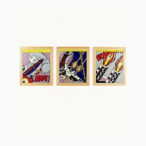As I Opened Fire 1st Edition Lithographs by Roy Liechtenstein for Stedelijk Museum Amsterdam, 1966, Set of 3