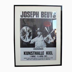 Joseph Beuys Kunstahalle Zeichnungen Kiel Ausstellungsplakat, 1971