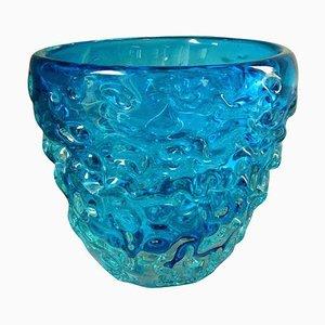 Italienischer Blauer Murano Glas Eiskübel, 1960er