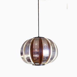 Rosewood Pendant Lamp by Werner Schou for Coronell Elektro, 1970s