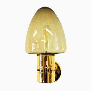 Applique in vetro e ottone di Hans-Agne Jakobsson per AB Markaryd, anni '50, set di 2