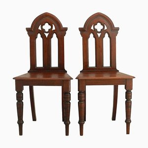 Gothic Revival Side Chairs, Late 19th Century, Set of 2
