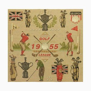 Golf US Open Commemorative New England League Tapestry, 1950s