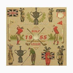 Golf US Open Gedenk England Wandteppich, 1950er
