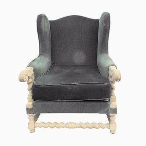 Louis XIII Wingback Armchairs, 1920s, Set of 2