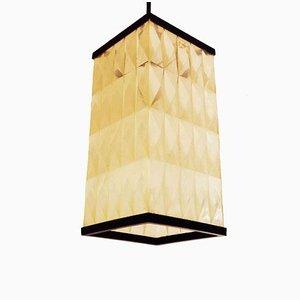 Lampes à Suspension Lanterne en Plastique Opaque, 1950s, Set de 2