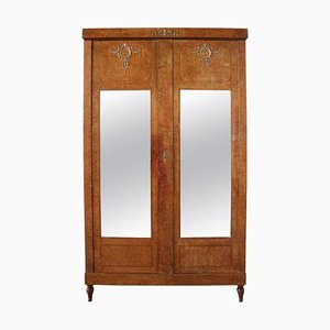 19th Century French Empire Armoire with Mirror Door