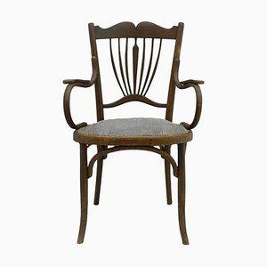 Antique Art Nouveau Bentwood Armchair, 1900s