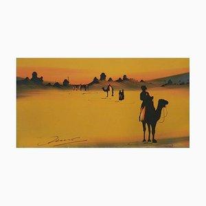 Peinture Touareg Sahara Desert on Camels, 1920