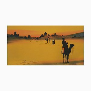 Sahara Desert Tuaregs on Camels Painting, 1920
