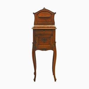 Table de Chevet Rococo Louis Revival, France, 19ème Siècle