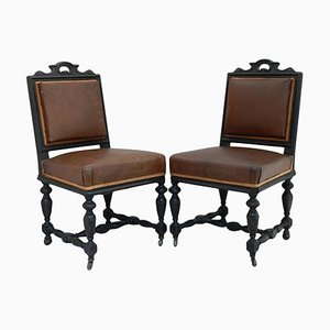 19th Century French Side Chairs, Set of 2