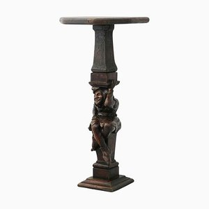19th Century French Hand-Carved Pedestal Stand Provincial Sculpture