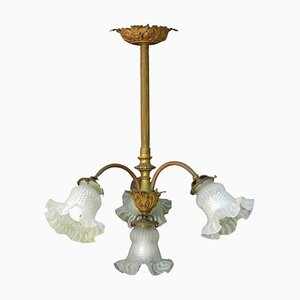 French Louis XV Gilt Bronze and Glass Chandelier, 1899