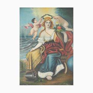 Französische Druckgrafik von Warrior Queen und Cherubs, 19. Jh