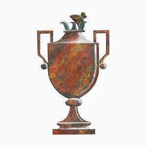 Panneau Vase en Bois Peint par Loic Garnier, 1980s