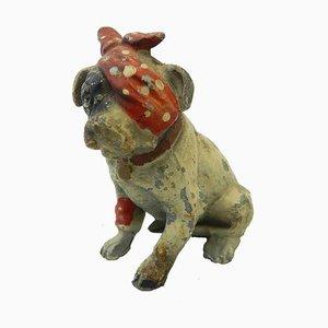 Vintage Austrian Painted Metal Bull Terrier Dog