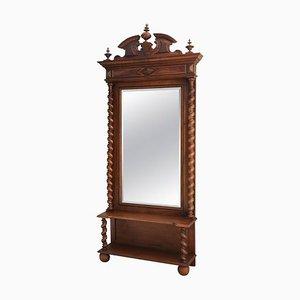 19th Century French Louis Barley Twist Dressing Mirror
