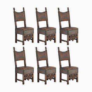 Spanische Renaissance Esszimmerstühle, Spanien, 18. Jh