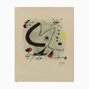 Abstract Limited Edition M by Joan Miro for Bolaffiarte Photolithograph, 1930s