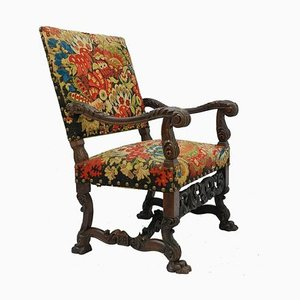 19th Century French Gothic Renaissance Carved Country House Armchair